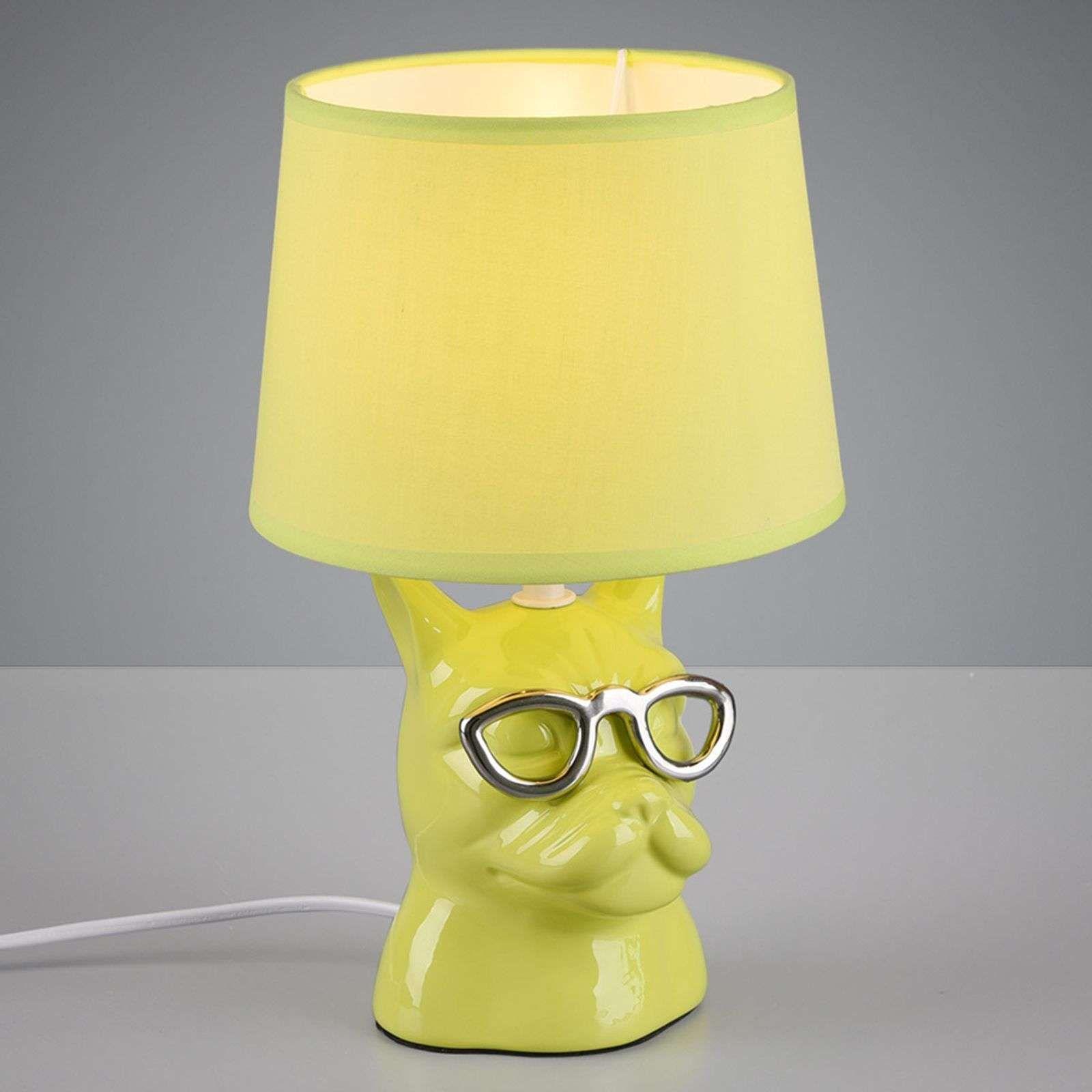 Tischleuchte Dosy Mit Hundegesicht Grun Lamp Lampe De Chevet Lampe A Poser