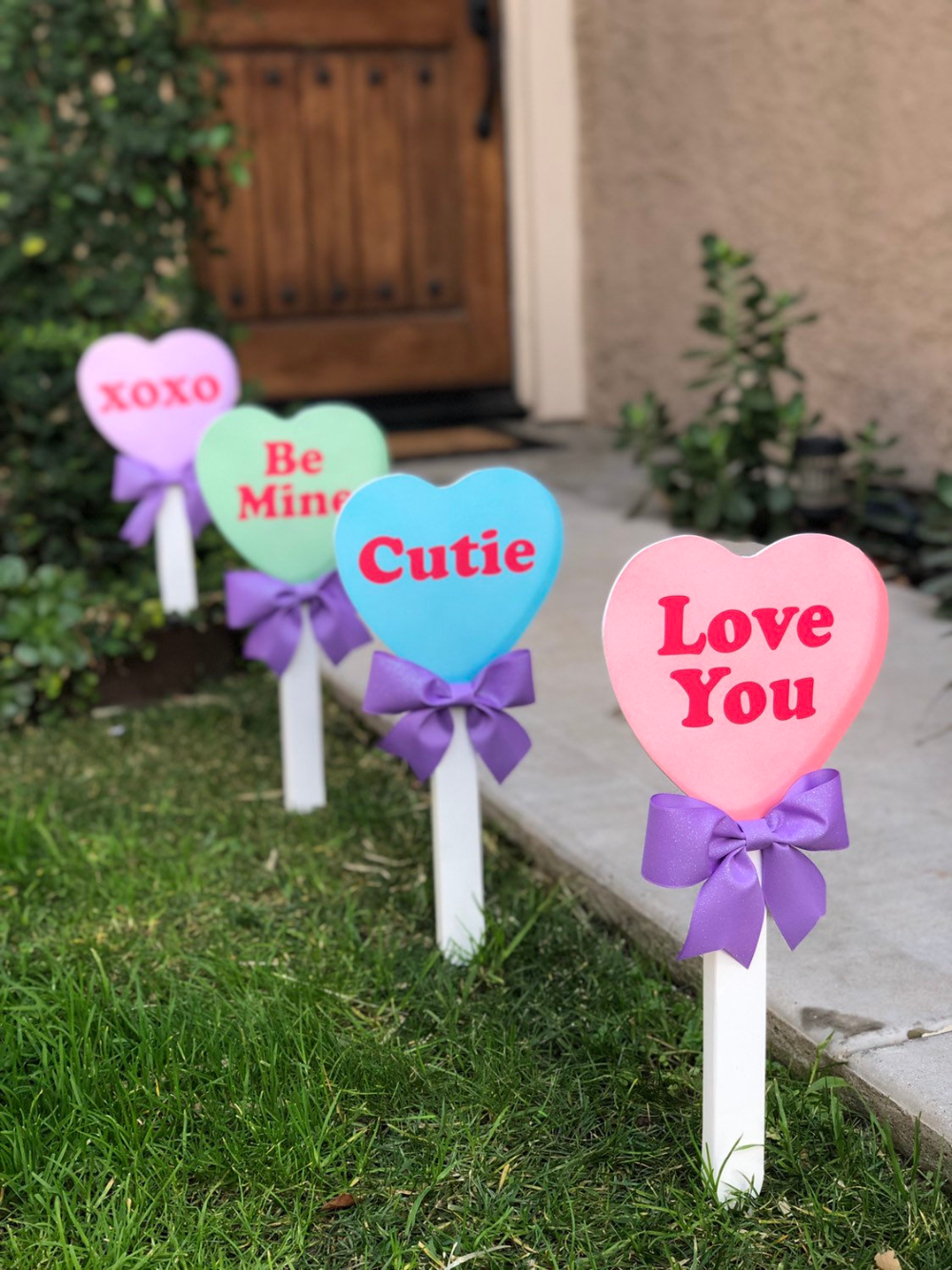 Valentine's Day Conversation Candy Heart Yard Decor