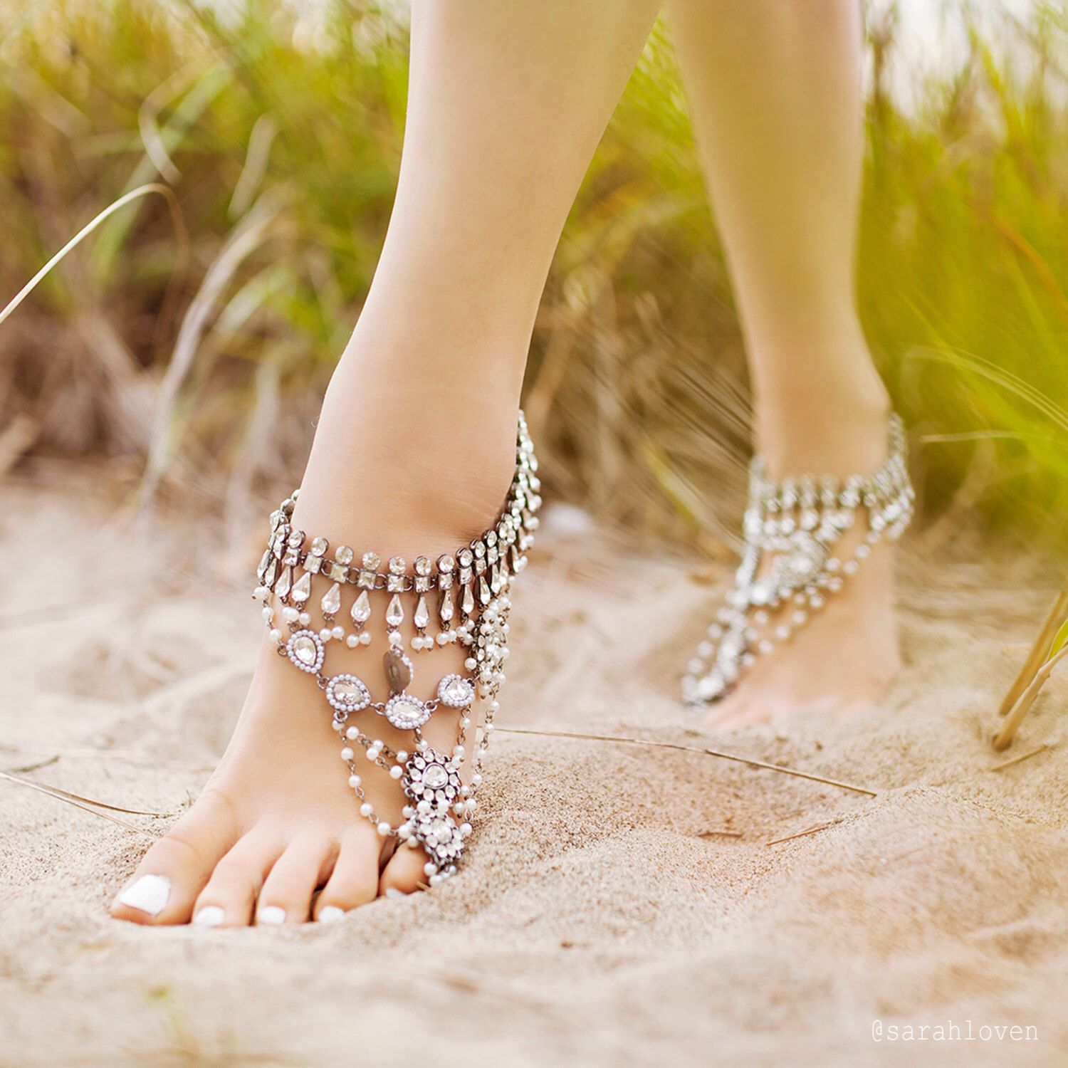 anklet sandals listing foot jewelry mandala flower zoom wedding lesi barefoot hippie fullxfull il