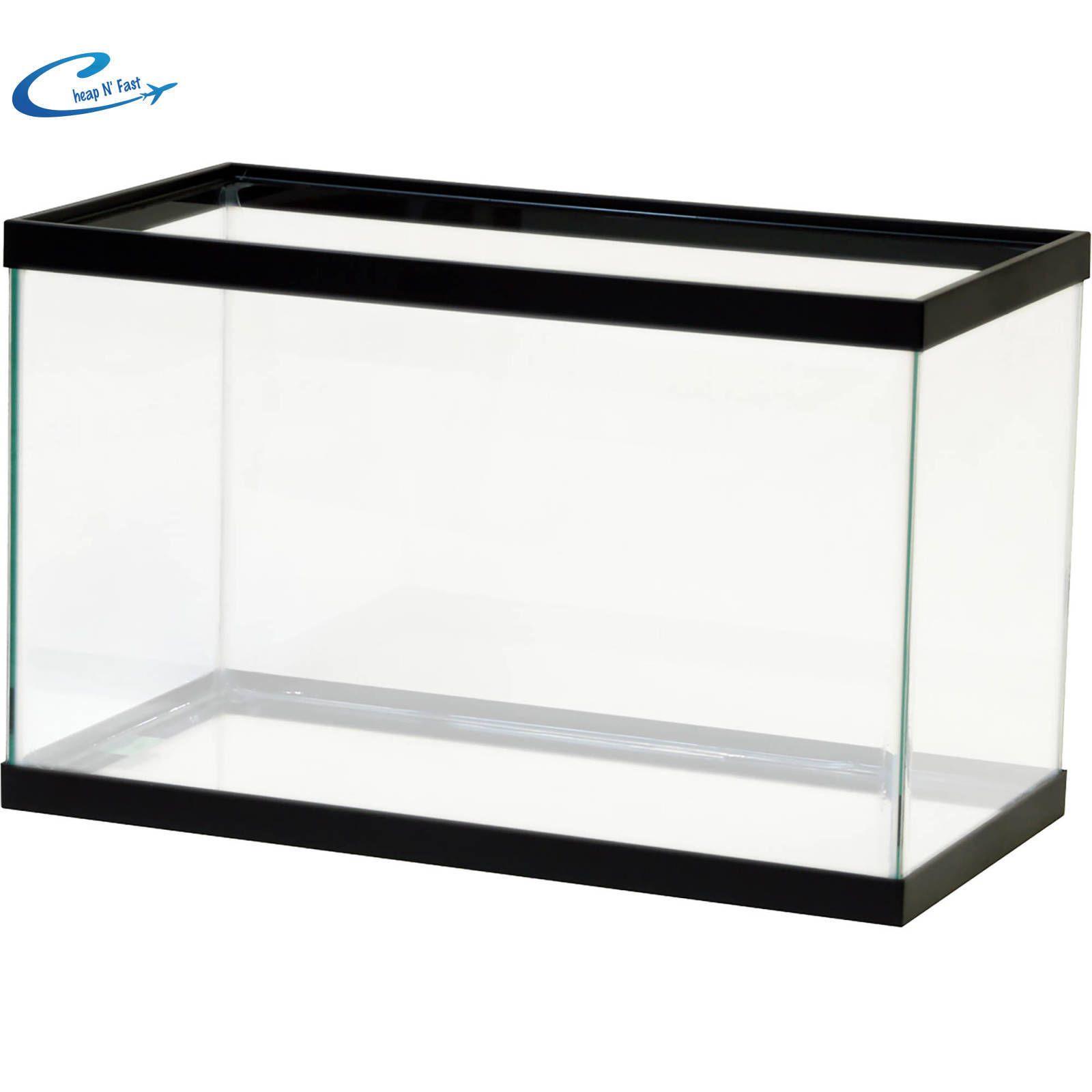 Empty Aquarium 10 Gallon Clear Fish Tank Aqua Culture Glass