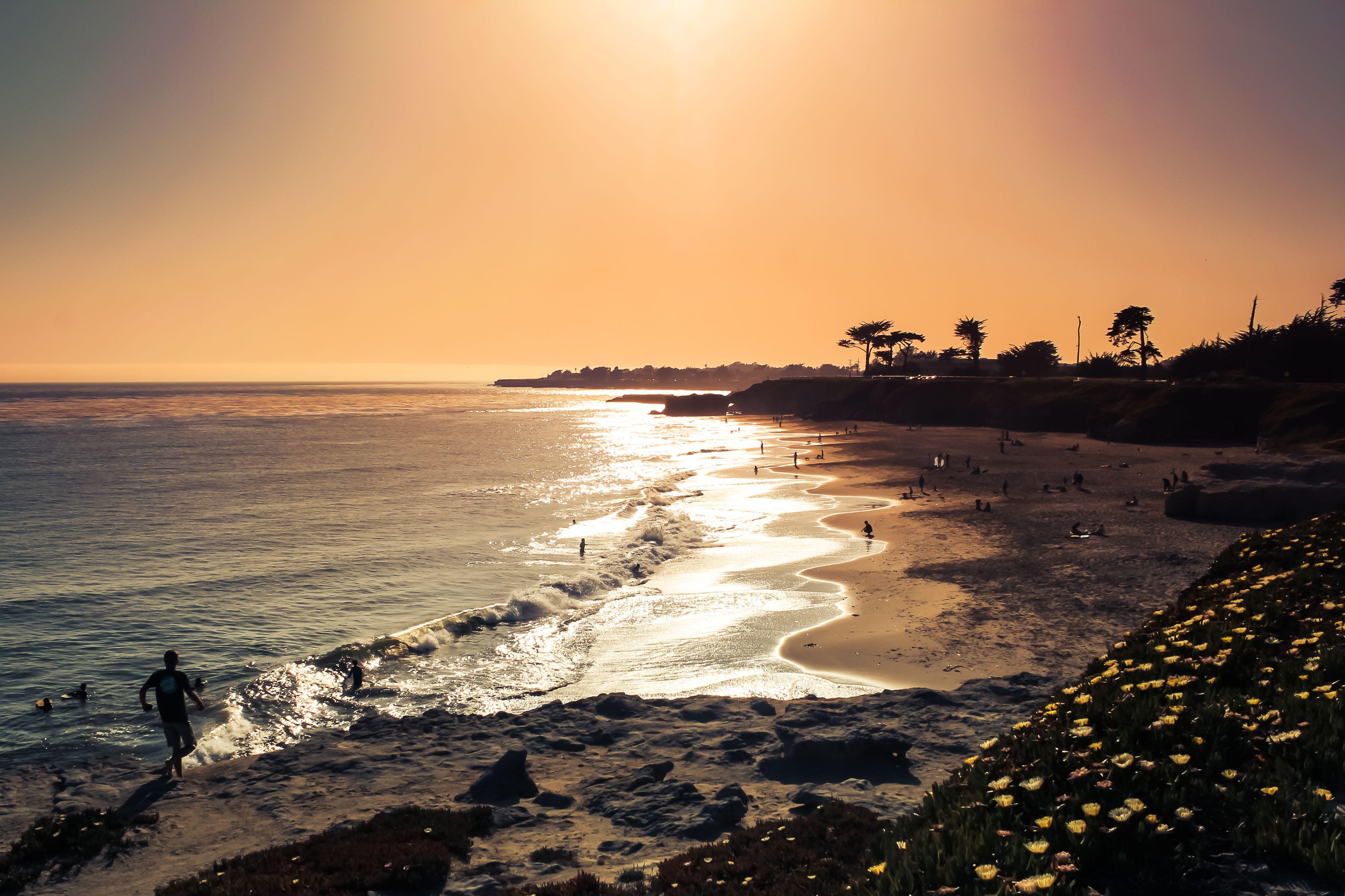 Lighthouse Field State Beach ocean view in Santa Cruz CA