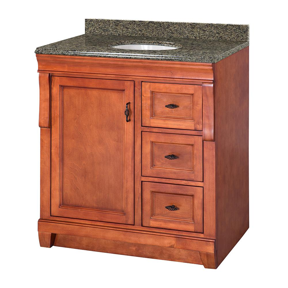 Foremost Naples 31 In W X 22 In D Vanity In Warm Cinnamon With