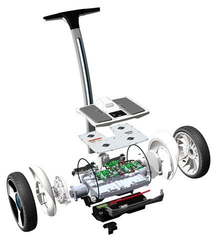 the inside of the ninebot picture the ninebot is a segway. Black Bedroom Furniture Sets. Home Design Ideas