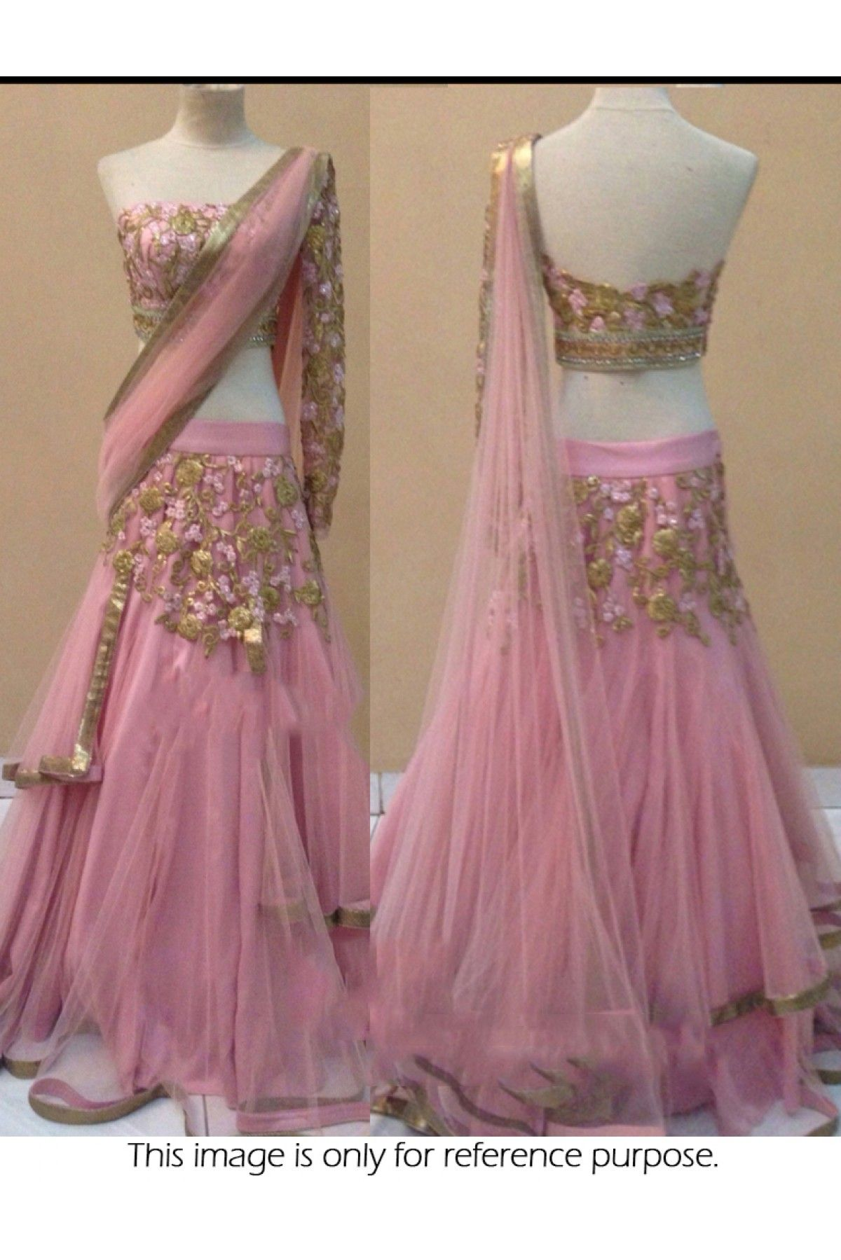 92bbe51db58458 Bollywood Style Model Net and Raw Silk Party Wear Lehenga Choli in Pink  Colour…