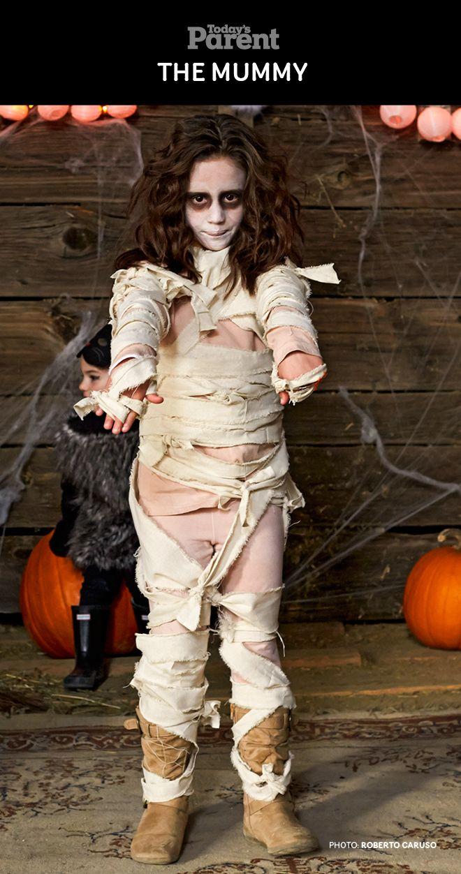 DIY Mummy Kids Halloween Costume. #TodaysParent #HalloweenKidsCostume