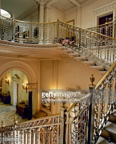 The Silver Staircase At The Opulent Manderston House The Only English Country House Classical Interior Design