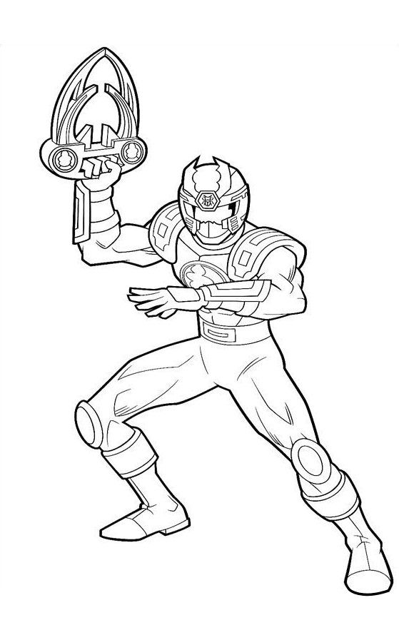 Cool Power Ranger Coloring Pages Pictures Warna