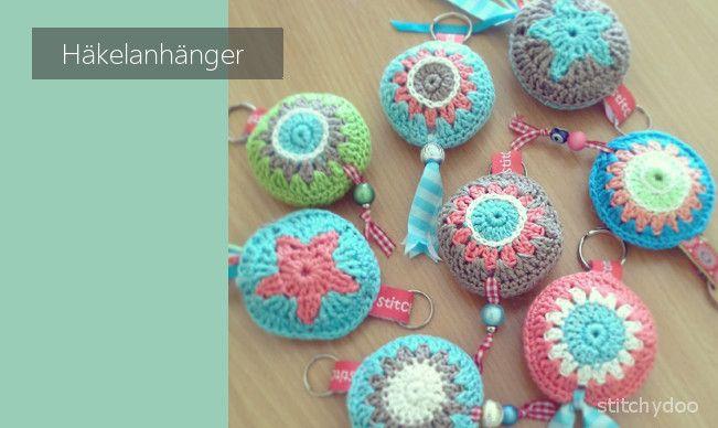 Viele Bunte Anhänger Crocheted Things Pinterest Häkeln