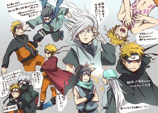 Naruto, Sage Mode, Konohamaru, Ryuuzetsu, Muku, Kakashi, cute, text