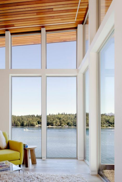 Design And Construction Firm First Lamp Architects Has Raised This Family Home Near Seattle Above A Nearby Body Of Wate Waterfront Homes Architect Architecture