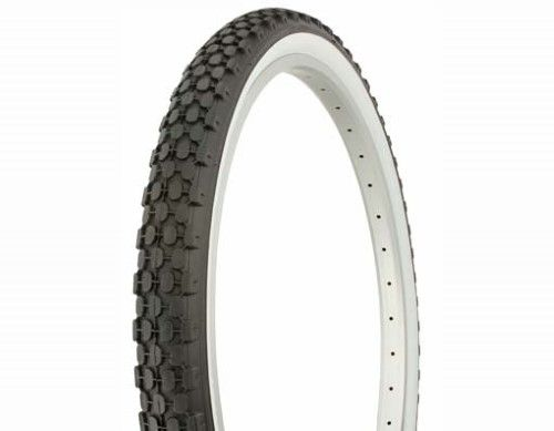 Duro Knobby Tread Cruiser Tire 26in X 2 125in White Wall Bicycle Tires Chopper Bike White Walls