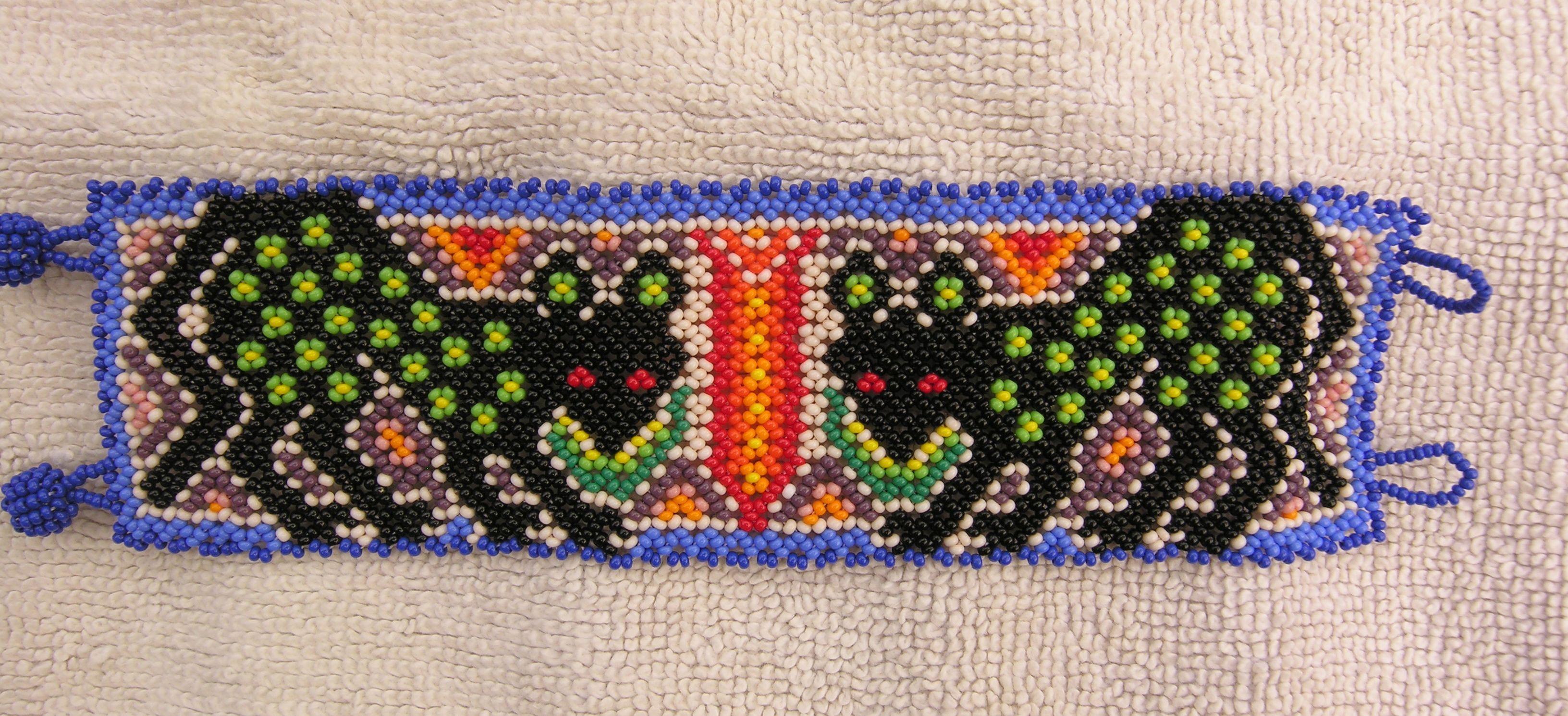 Huichol beaded bracelet etsy beadwork huichol bracelets i