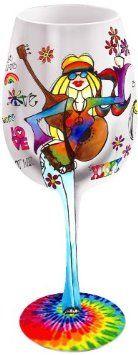 handpainted wine glass