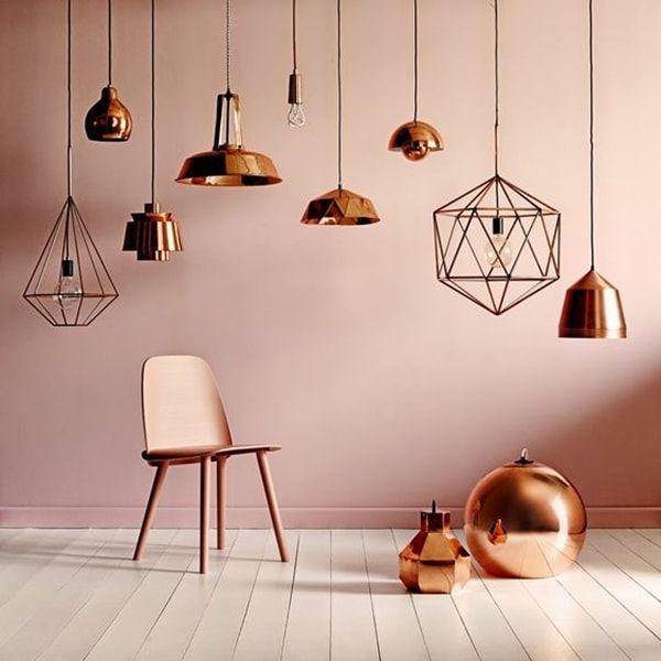Lámparas de cobre, una tendencia muy industrial Industrial