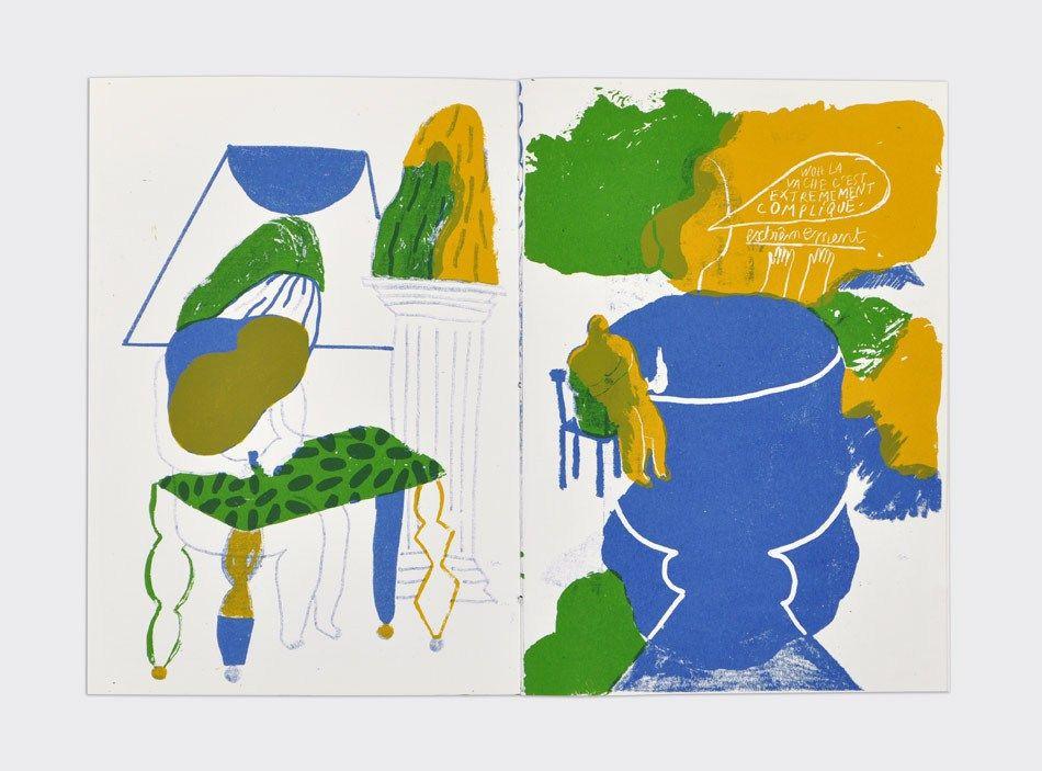 Linoleum Berlin , Marion Jdanoff Palefroi Silkscreen Illustration Drawings Berlin