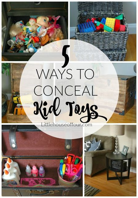 Double Duty Decor How To Effectively Hide Toy Clutter Toy