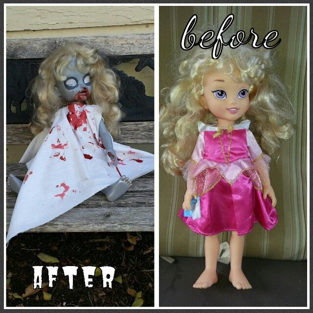 My creepy doll for Halloween decor #juicyideas