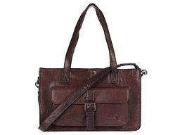 'Knightsbridge' Conker Brown Vintage Handcrafted Buffalo Leather Handbag from Conkca.com. £99.00