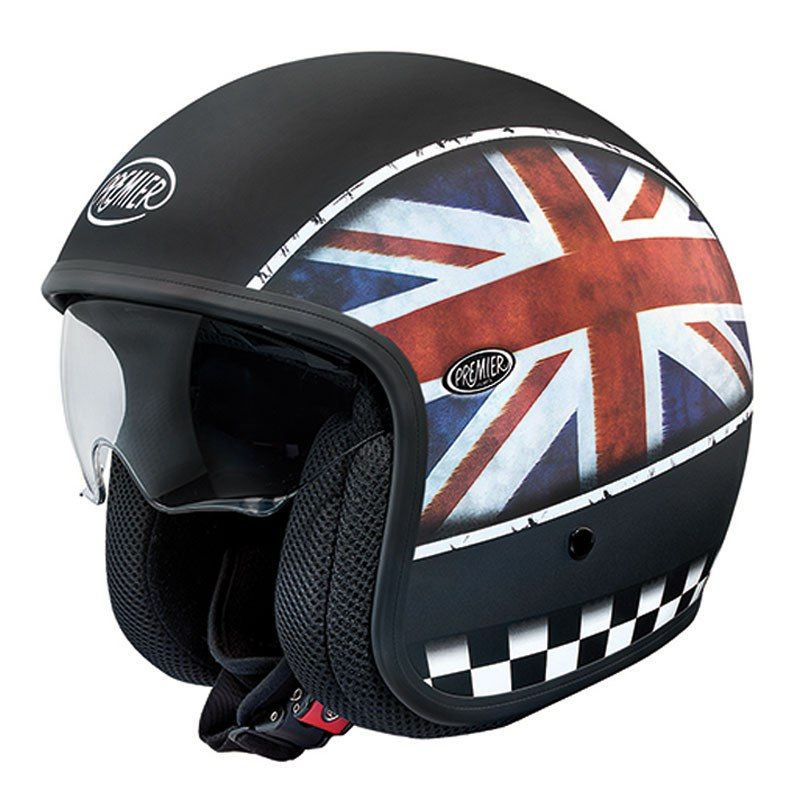 casque premier vintage flag uk casque de moto moto triumph accessoire moto et casque design. Black Bedroom Furniture Sets. Home Design Ideas