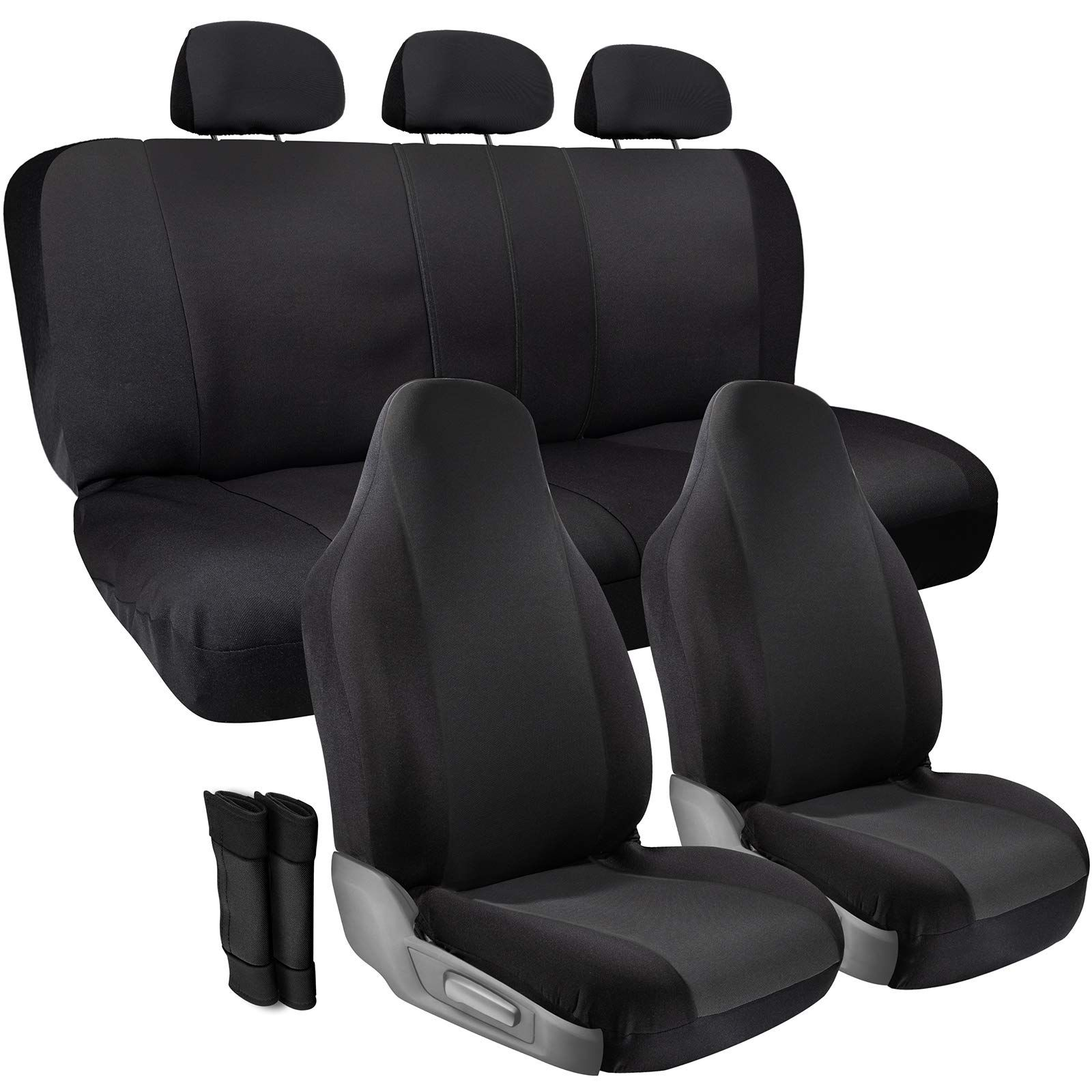 Car seat covers fit Toyota Prius full set black leatherette//polyester
