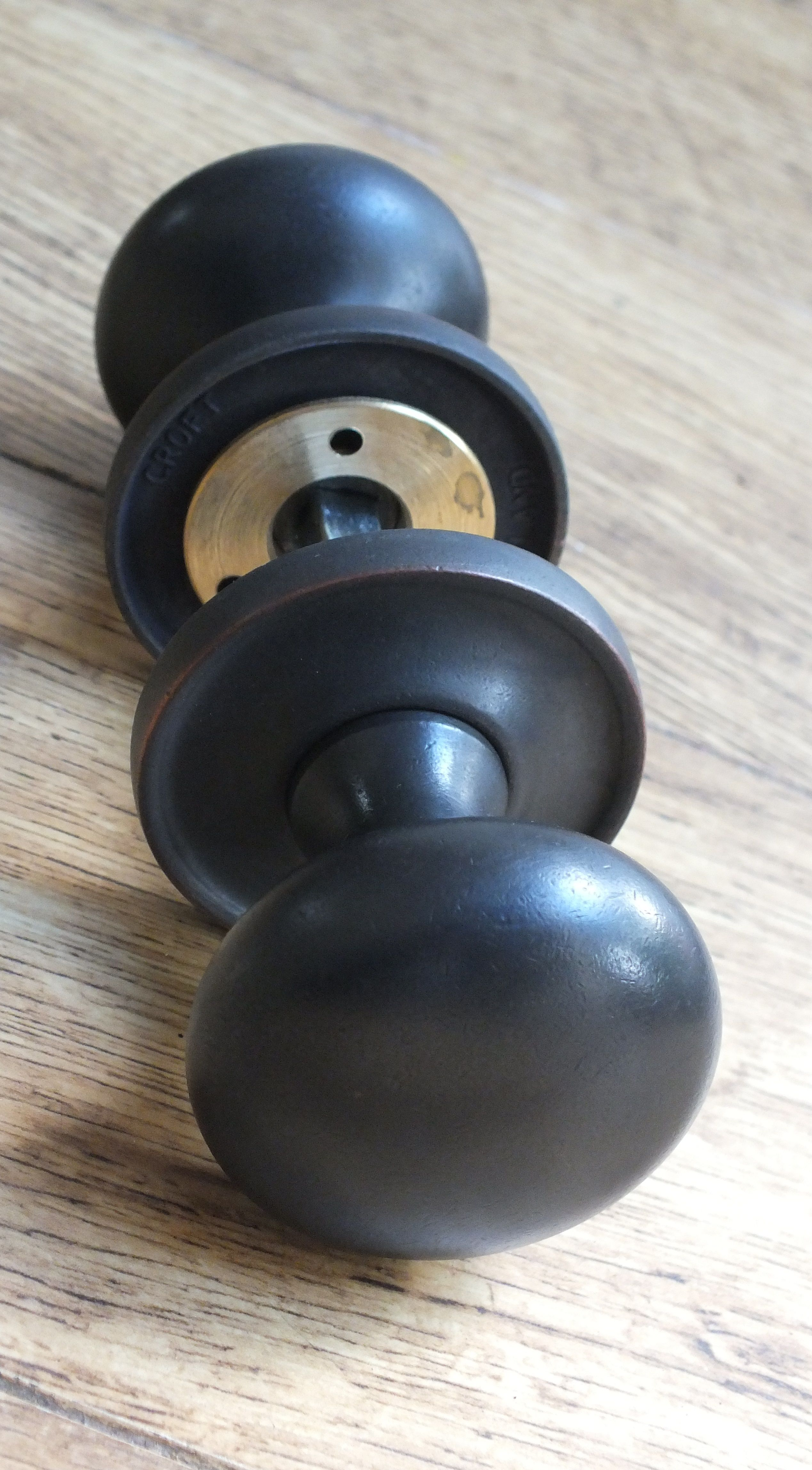 Very high quality, oil rubbed bronze door knobs from British ...