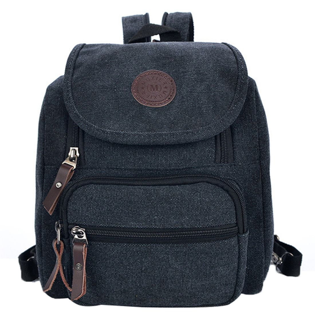 Texu Fashion Canvas Women Backpack School Bag Small Student Female Shoulder Large Capacity Travel Newest Casual Men And Womens Backpacks Students High Quality All Match Vintage Bags