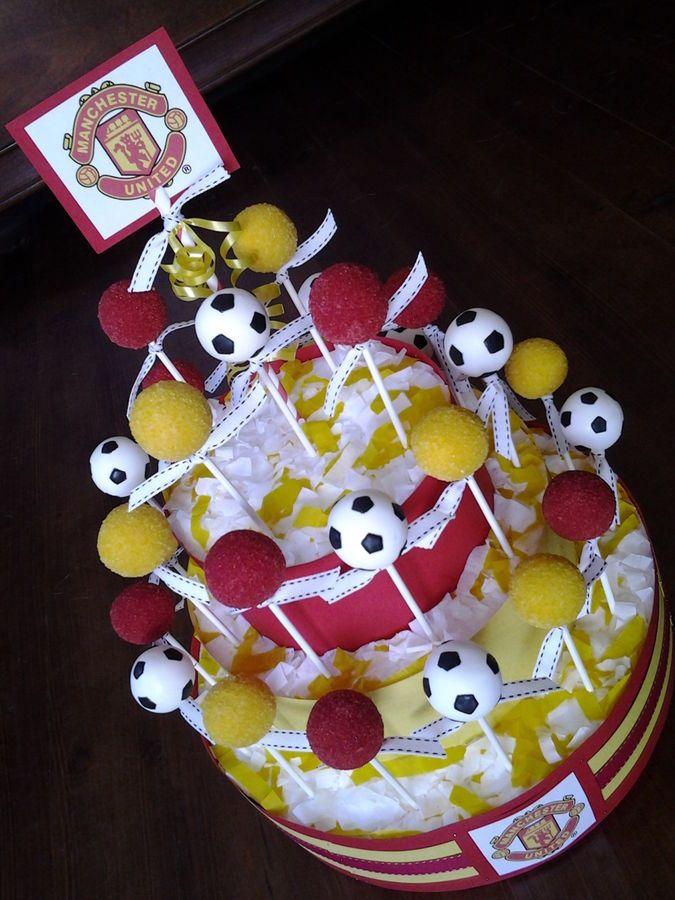 Manchester United Soccer Themed Cake Pops Soccer Cake Pops Cake Pop Decorating Easter Cake Pops