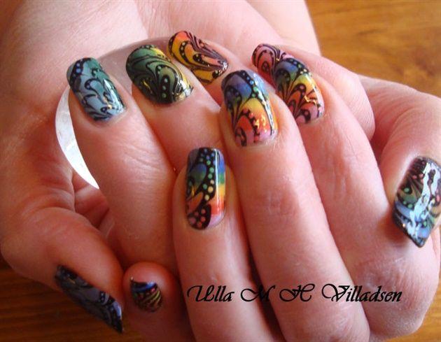 Rainbow Mood by Ulla - Nail Art Gallery nailartgallery.nailsmag.com ...