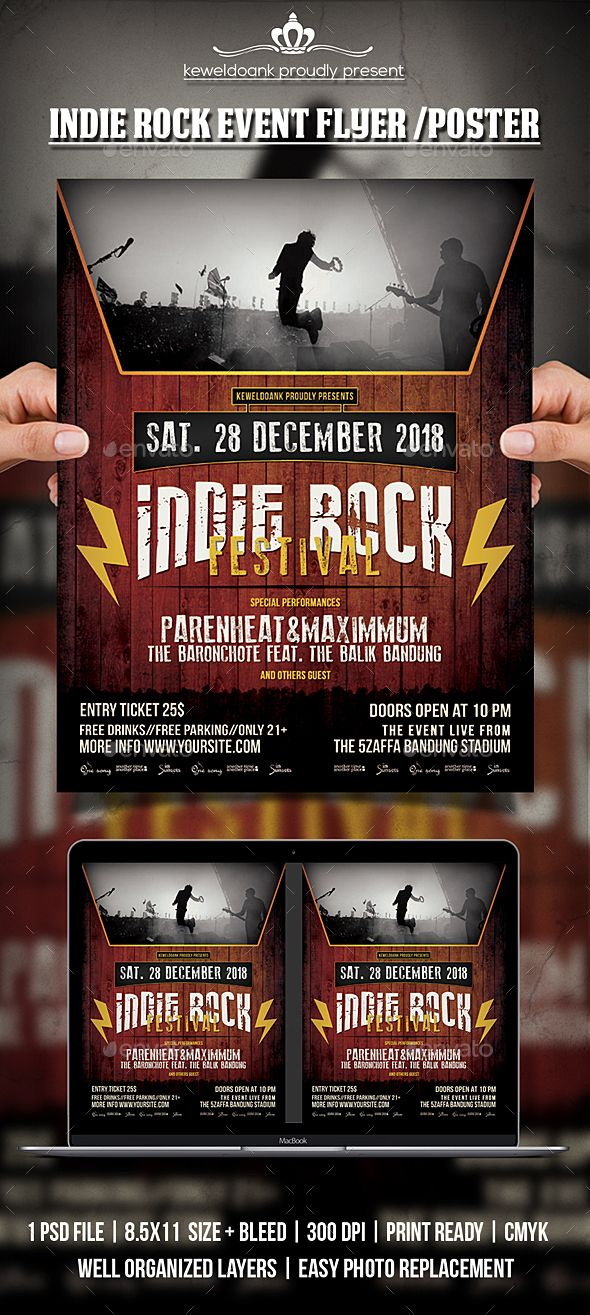 Indie Rock Event \/ Poster Event flyers, Event flyer templates - event flyer templates