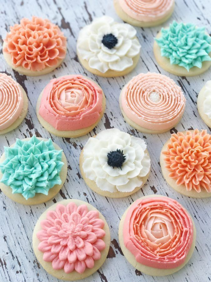 Mother's Day in 2020 (With images) Flower sugar cookies