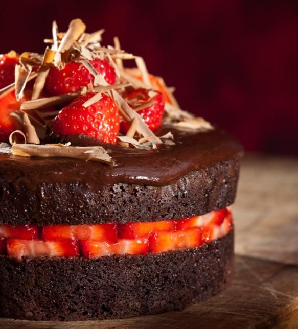 Schokoladen Erdbeer Oase Aus Jennas Kuchen Fur Liebe Gibt Es Kein