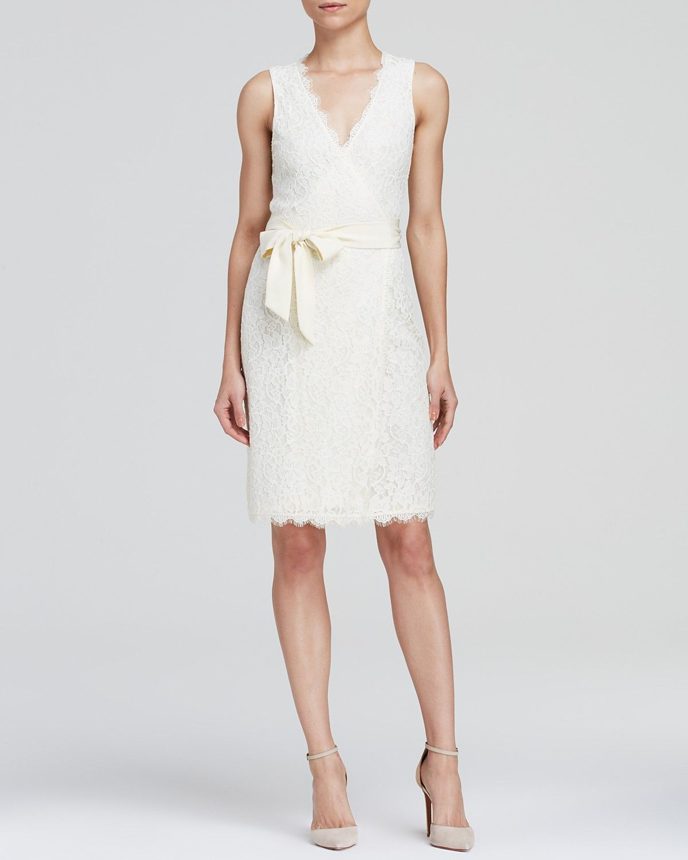 Dvf julianna lace wrap dress midnight
