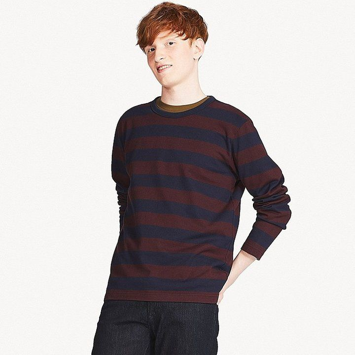 e0e0f8c59f Uniqlo Men's Washed Striped Crew Neck T-Shirt | Products | Shirts ...