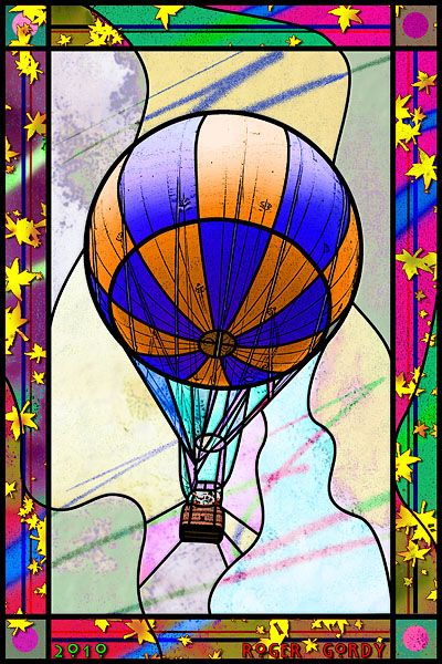Stained glass balloon.