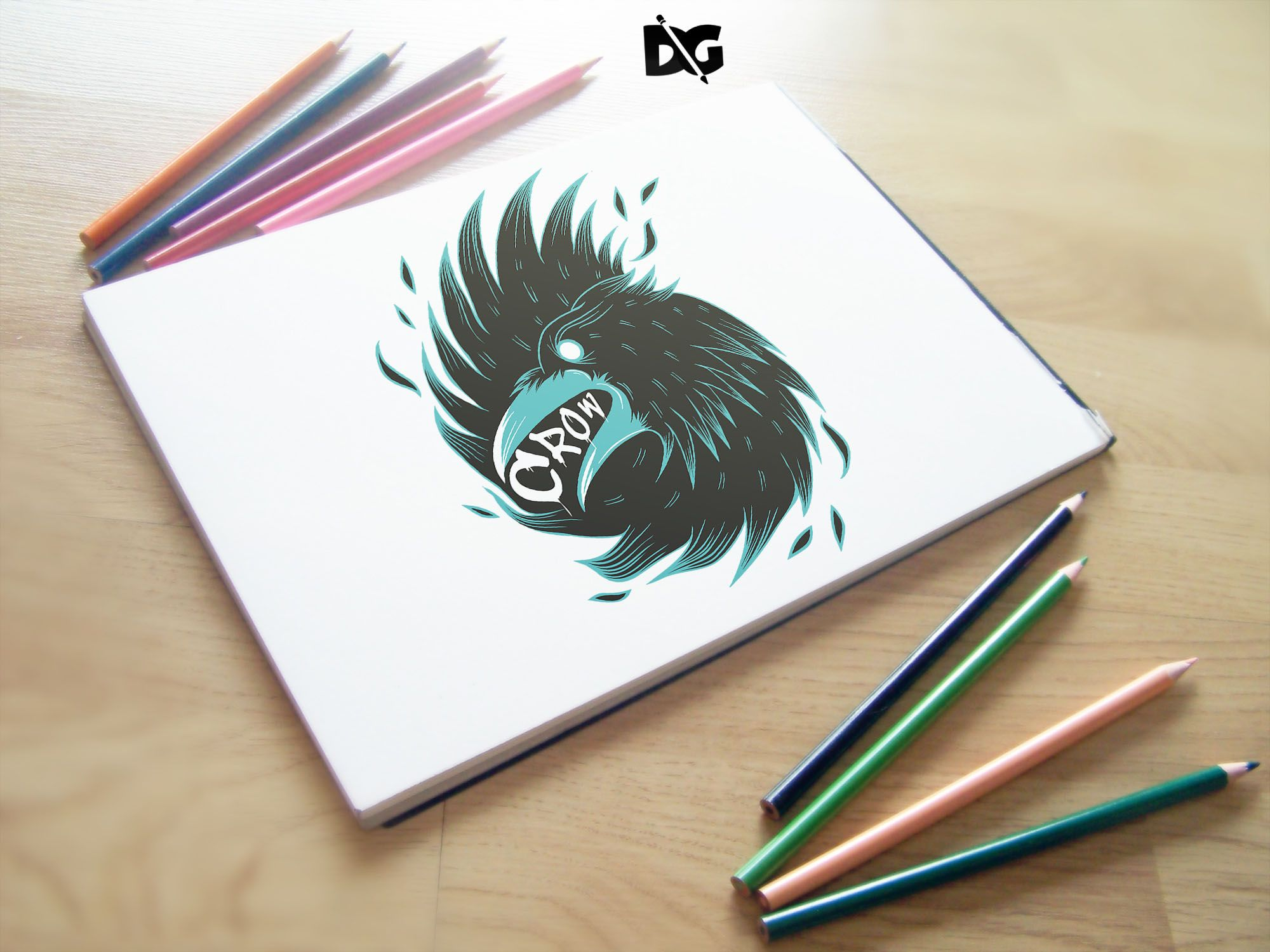 Latest Sketch Pad Mockup Sketch Pencils In 2021 Free Logo Mockup Logo Design Mockup Free Logo Psd