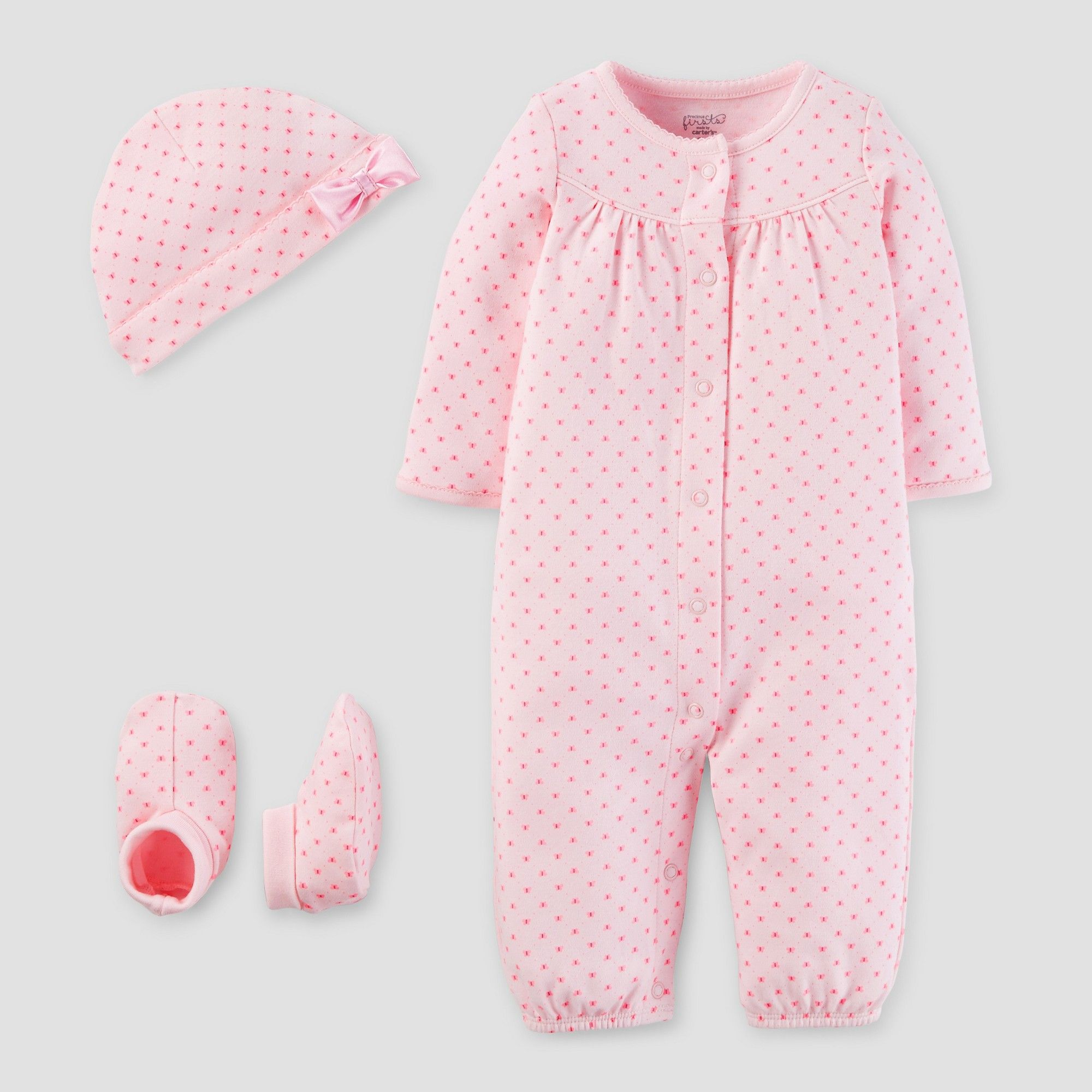 Baby Girls 3 Piece Converter Gown Set Blush Pre Precious Firsts