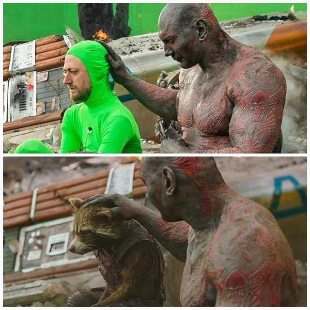 Must Follow @movies_effects for more updates. Guardians of the Galaxy.Before/After effects. #guardiansofthegalaxy #theavengers #drax #rockrt #marvel #vfx #captainamerica  #ironman  #behindthescenes  #vfxworld #love #instagood #tbt #like  #thedarknight #superman #manofsteel #deadpool  #aftereffects #beforeeffects #hollywood  #shooting #dc #wb #picoftheday #xmen  #spiderman  #bollywood