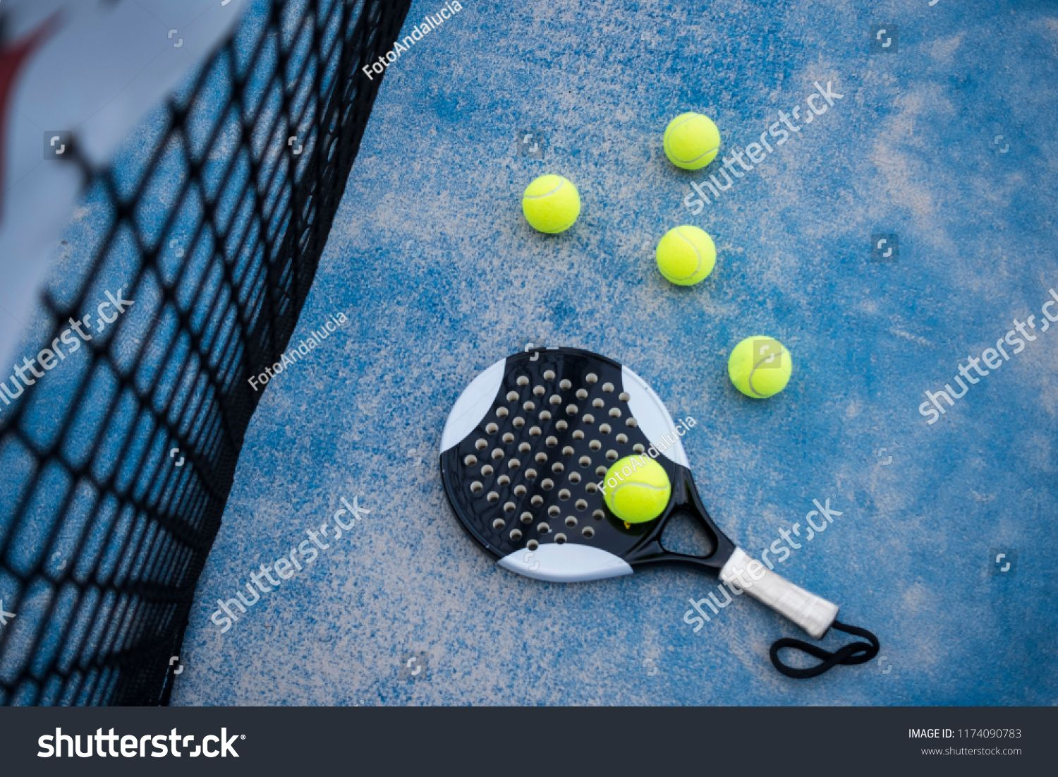 Paddle Tennis Racket And Balls On Court Artificial Grass Ad Affiliate Racket Tennis Paddle Balls Tennis Racket Rackets Paddle Ball