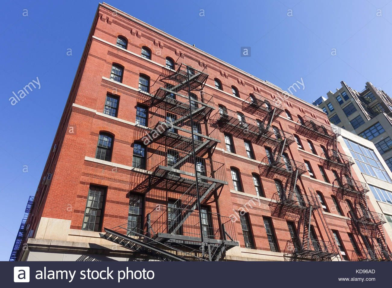 Download This Stock Image New York Building Facade Of Brick