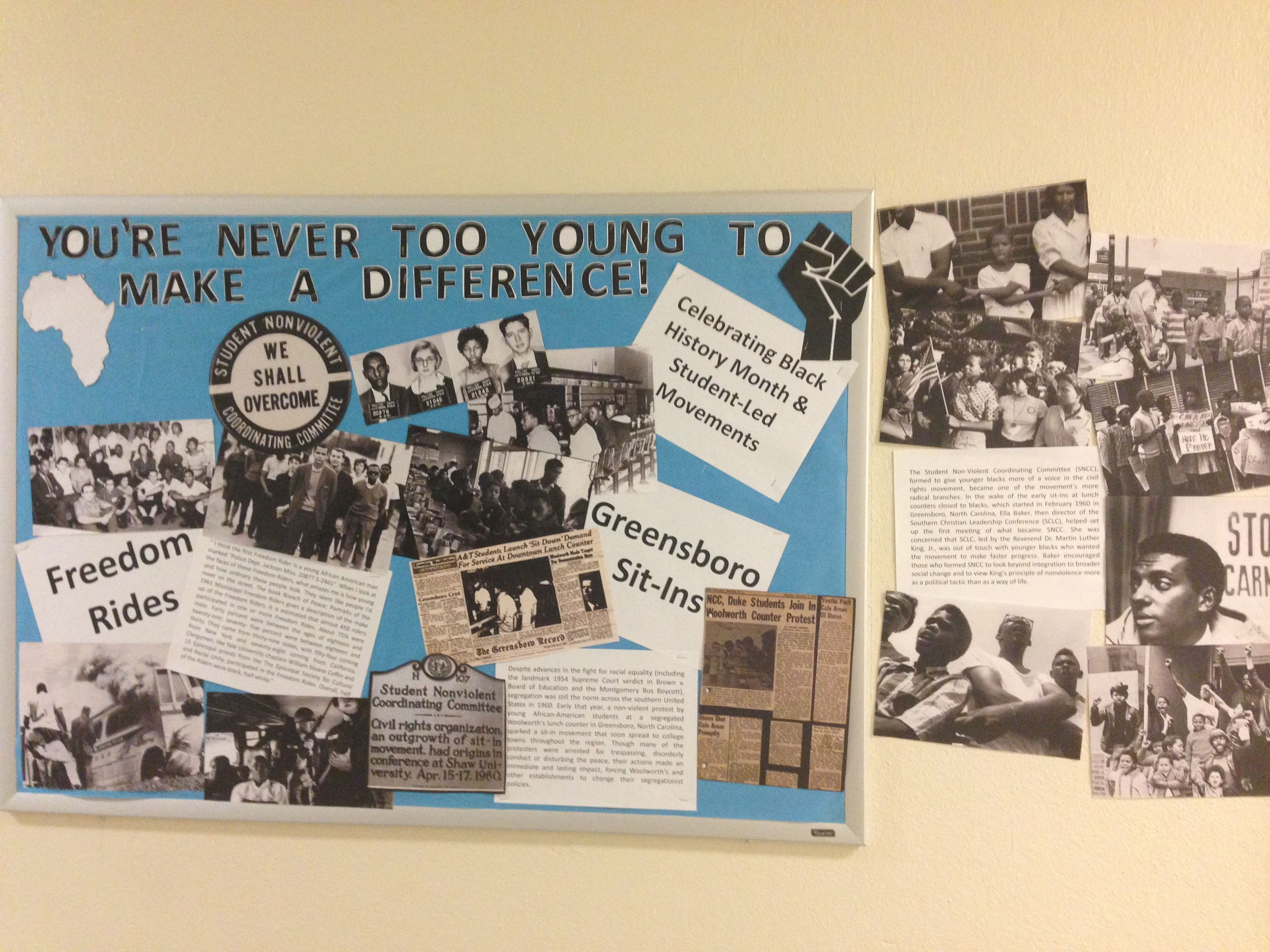 Black History Month Bulletin Board You Re Never Too Young