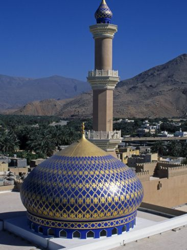 Nizwa Mosque, Nizwa, Oman, One of the Oldest and Most Famous Forts in Oman Is the One at Nizwa Photographic Print by Antonia Tozer at Art.com