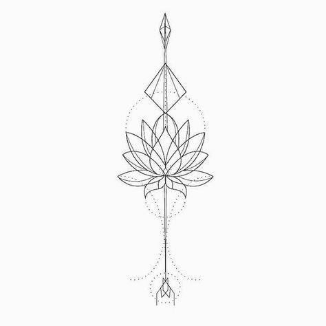 fe08e983e8bd7 Lotus tattoo design | tattoos | Lotus tattoo design, Lotus tattoo ...