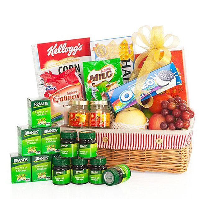 Nothing Says Get Well Like This Well Put Together Basket Of Goodies To Nurse A Loved One Back To Health Same Day Flower Delivery Flower Delivery Online Florist