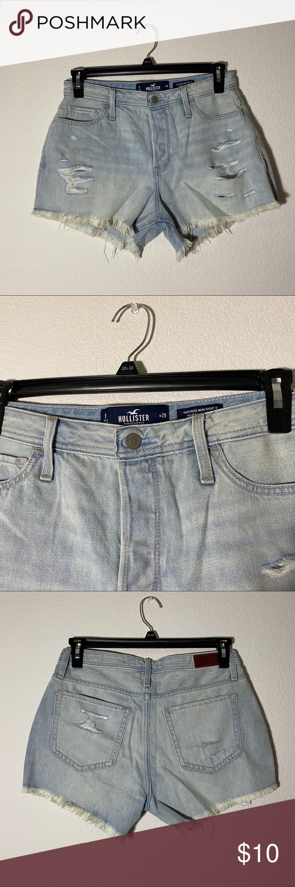 Photo of [ hollister ] ripped high waisted jean shorts brand new without tag! never worn …