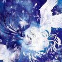 季刊エスさんにてこの絵の色 塗り違うバージョンをgallaryの扉で使っていただきました こちらの青を没にしました 掲載させていただいているのとこの絵の元の線画は同じですが 結構違うので比較し イラスト 絵 天使と悪魔