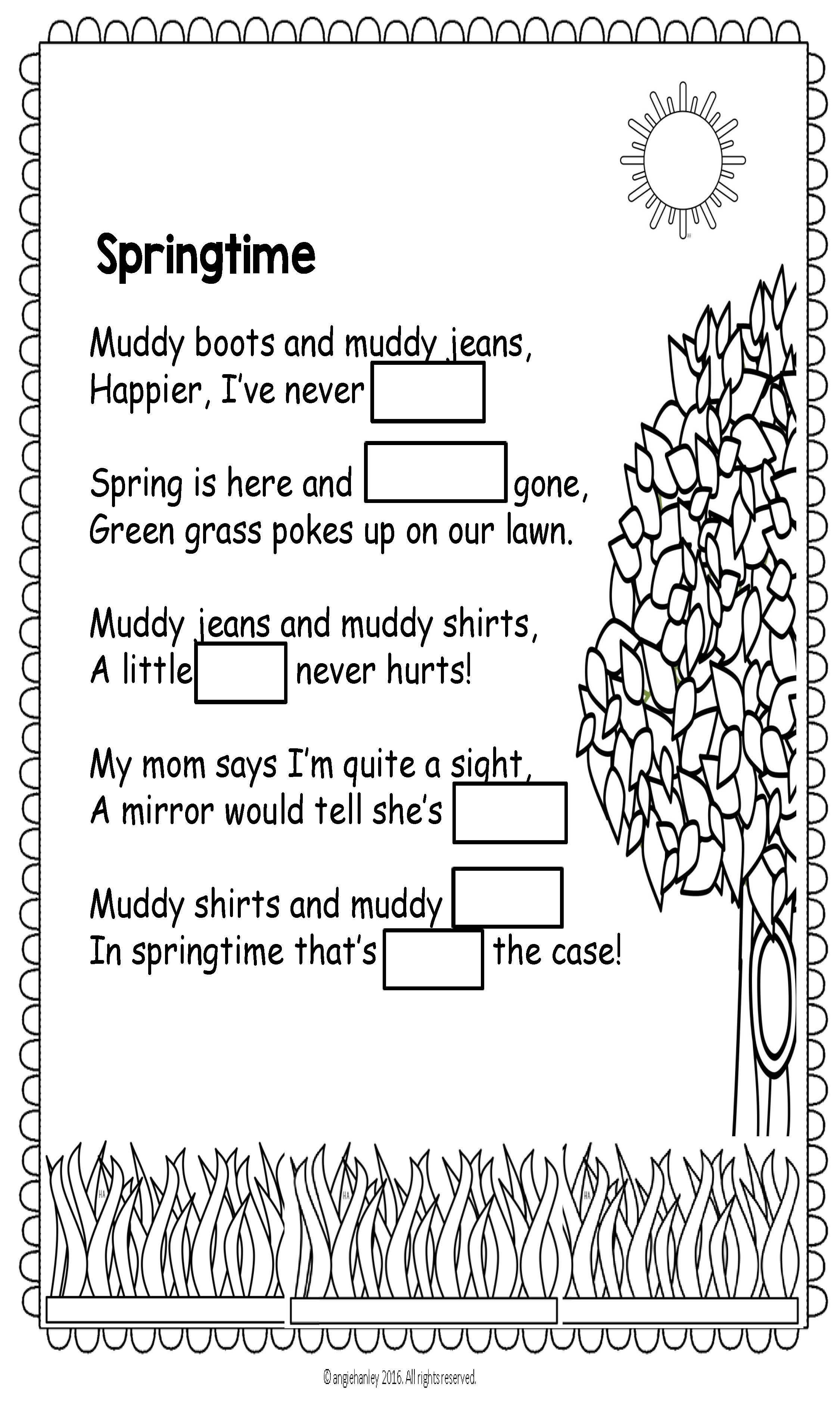 Spring Poem For Shared Reading