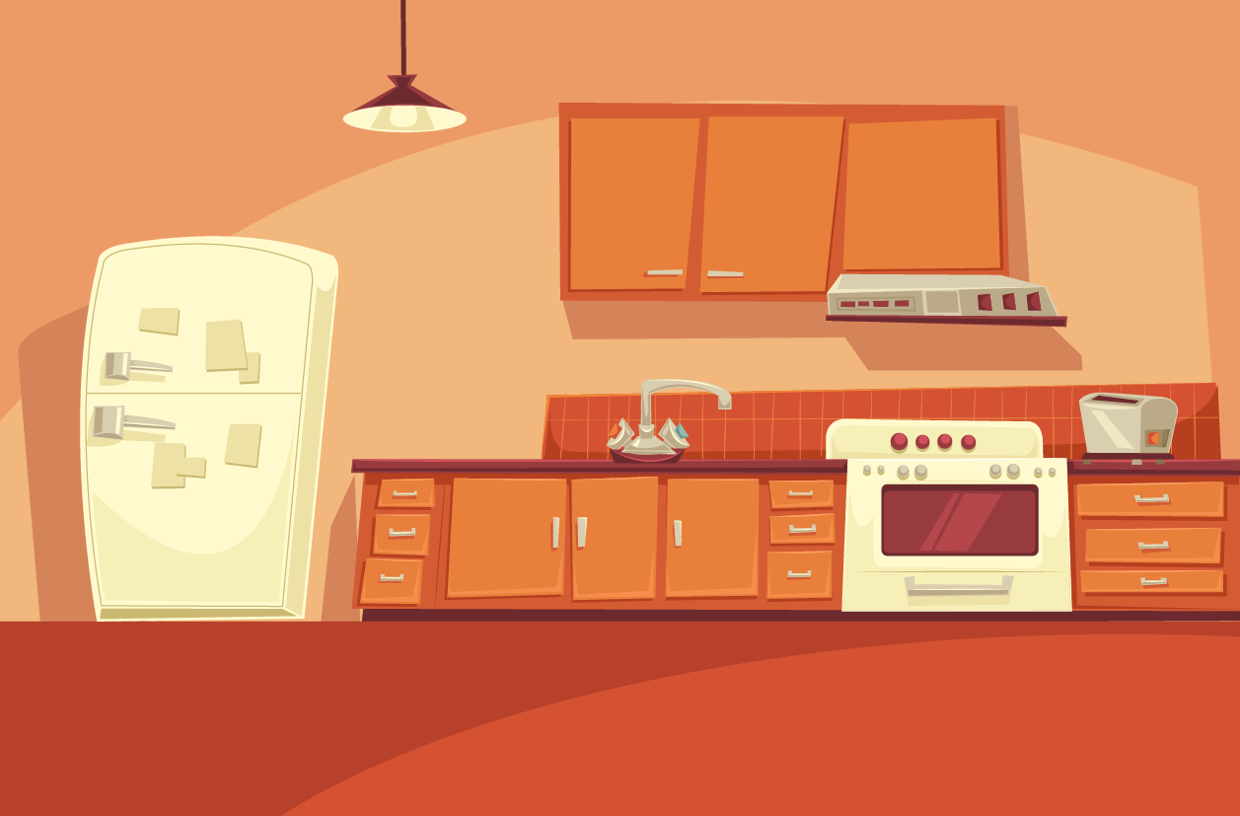 Cartoon kitchen counter gallery - View Image