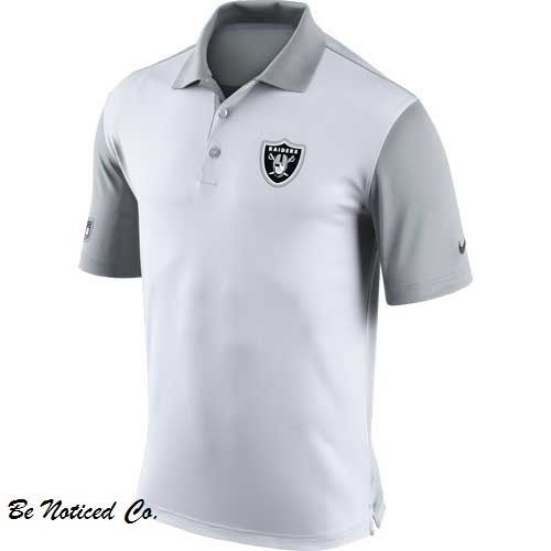 ca44b21f Nike Men's Oakland Raiders Polo Shirt 4XL White Gray Gym Causal Football New