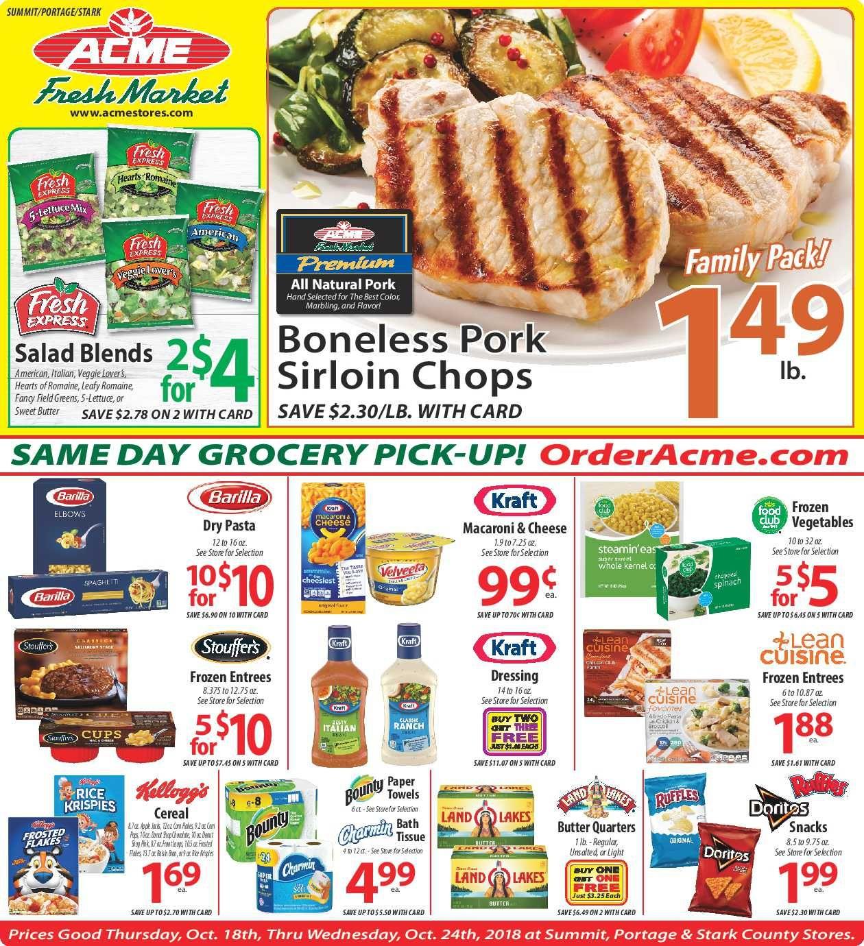 Acme fresh market weekly specials flyer january 17 23