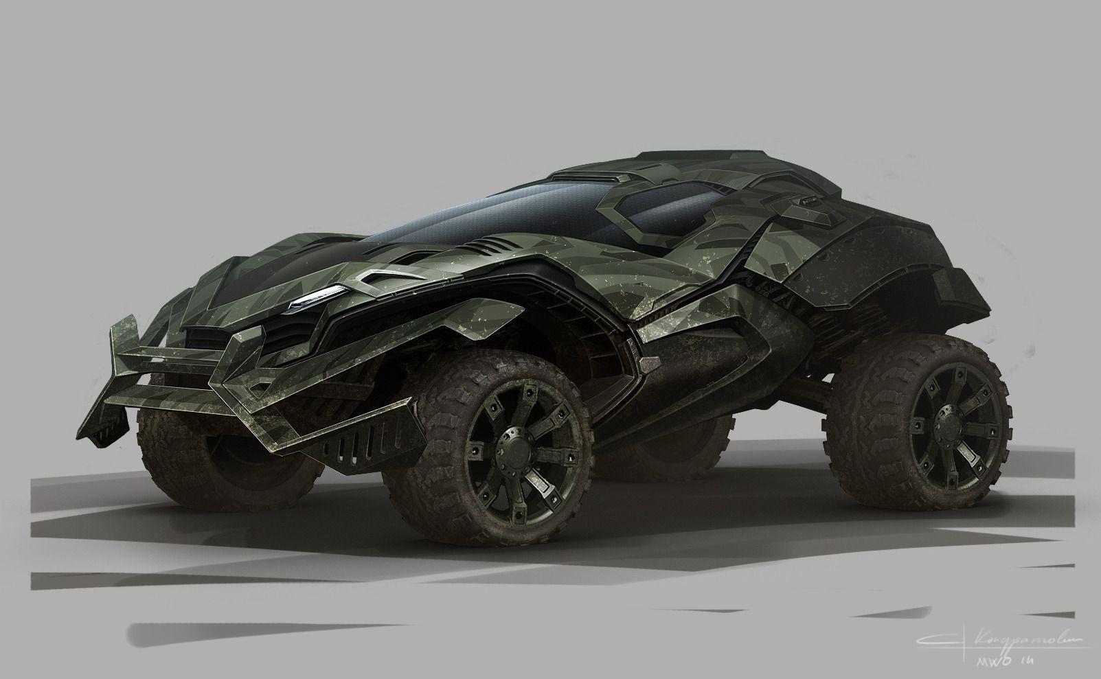 Sci Fi Armored Sports Car Concept